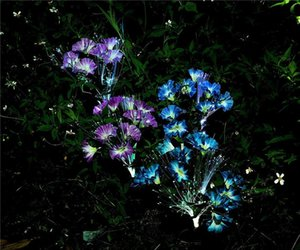 Solar Garden Lights Outdoor LED Decorative Solar Flowers Stake Lights for Garden Yard Patio Lawn Path Decoration Color Changing Wholesale