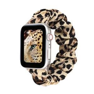Bande élastique pour Apple montre iWatch 38mm 42mm 40mm 44mm Fleur Pois Motif Femmes Filles Bracelet Bracelet Chouchou Bracelet