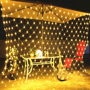 210 LED Fairy Net Light Mesh Cortina String Body Christmas Fiesta Decoración Cálido Boda Boda Neón Neon Gypsophila Luces Al Aire Libre Luz Impermeable