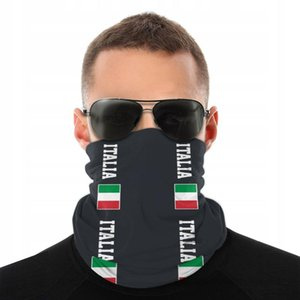 Italian Flag Scarves Half Face Mask Men Women Fashion Neck Gaiter Seamless Bandana Protective Headband Biking Climbing