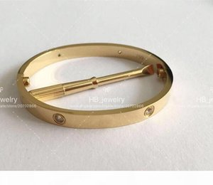 Popular fashion brand High version screw bangle bracelet for mens and Womens Party Wedding Lovers gift Luxury Jewelry for Couples With BOX