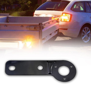Iron Hitch 7 Pin Auto Trailer Caravan Fixing Pre-wired Car Electrics Plug Wire Connector Tow Bar Socket Plate Adapter
