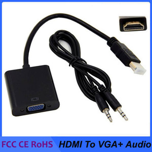 1080p HDMI a VGA convertitore audio e video Cavi DP DisplayPort maschio a VGA femmina cavo adattatore convertitore