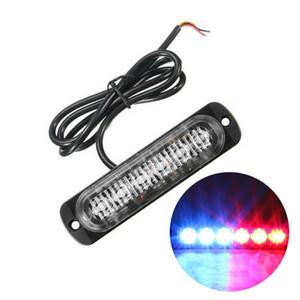 전구 램프 경고 1 배 레드 블루 6 LED 슬림 12V 24V 24LED 스트로브 빛 자동차 - 모터 차량 트럭 LED 사이드 마커 램프 점멸