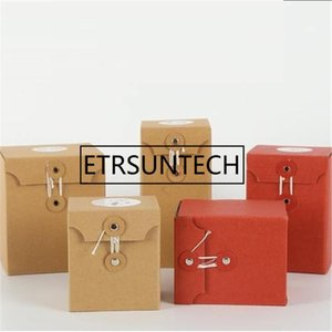 100Pcs Kraft Paper Gift Bag Package Cup Bags Decoration Paper Bag Gift Box With String Decor