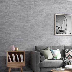 Modernes Plain Metall gestreifte Strukturierter Wand-Papier Grau Blau Khaki Solid Color Wallpaper Schlafzimmer Wohnzimmer Wohnkultur