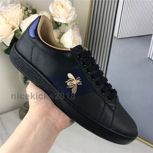 2021 Erkek Kadın Sneakers Rahat Ayakkabılar Düşük Üst İtalya Scarpe Ace Arı Çizgili Ayakkabı Yürüyüş Spor Trainers Chaussures Pour Hommes