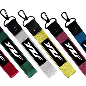 دراجة نارية سلسلة المفاتيح كيرينغ مفتاح السيارة الأشرطة keycord الحبل YAMAHA YZF R125 R3 125 R6 R1 250 450 1999 2002 600R ثونديركات