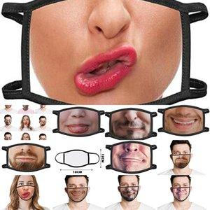 Mascarilla para Womens descuento Laagste Cosplay de Halloween Impreso mitad de precio 3d Uk Máscaras Disfraces Prijs cara increíble divertido Ofrvv