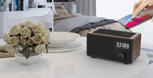 TWS Portable Stereo Speaker with wireless charger function Digital Alarm FM and TF card,Outdoor use