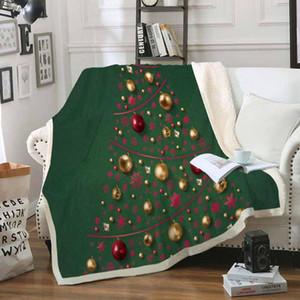 Ночь Рождественская елка Black Бросить Одеяло Soft Sherpa Fleece Blanket Cozy Blanket Nap диван Путешествия для детей взрослых