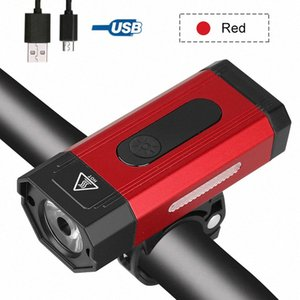 Waterproof Bike Light USB Front Bike Headlight 800 LM Cycling Lamp MTB Road Safety Night Torch with Built-in Battery uwYc#