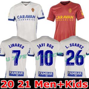 2020 2021 ريال سرقسطة L. SUAREZ LINARES كرة القدم جيرسي 20 21 منزل خافي ROS كرة القدم قميص VAZQUEZ جوتي كرة القدم الموحدة Camiseta دي فوتبول