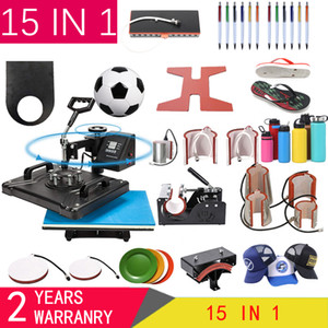 15 В 1 Heat Press Machine, Сублимация принтер / обуви Машина передачи тепла Ручка Нажмите для Mug / Cap / майка / обуви / бутылка / ручка / футбол
