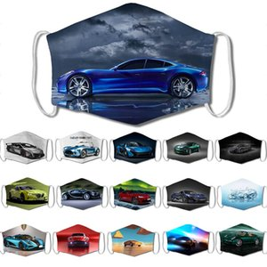 car face mask adult  face masks  car 3D printing facemask anti-sports car dust and haze hanging ear repetitive mask
