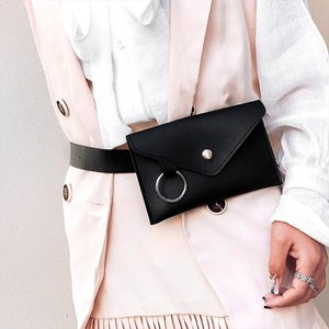 2020 Fanny Pack Women Banana Belt Bag Leather Waist Bag Fashion Women Pure Color Ring PU Purse Messenger Shoulder Chest pochete