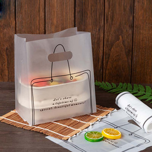 Torta in plastica borse a mano trasparente pane imballaggio borse da forno panetteria toast dessert da asporto imballaggio