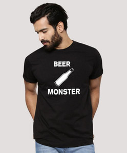 1pc Beer Monster Milk Monster Matching T-Shirt Dad Baby Casual Short Sleeve O-neck Letter Print Family Clothes Dad Kids Cute Top