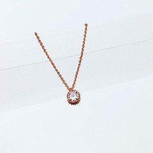 Exquisite Individual CZ Stone Cubic Zircon Colar Rose Colar Mulheres Moda Cor ouro jóias
