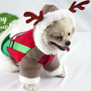 Pet Clothes Dog Coats Coat Autumn And Winter Christmas Warm Dog Clothes Small And Medium Cats Dogs Windproof Pet