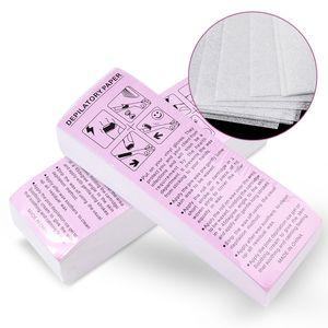 100pcs EXTRACCIÓN Extraer no tejida tela para el cuerpo Depilación Cera de rollos de papel de alta calidad de pelo Depiladora Papel banda de cera