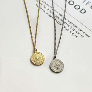 Vintage 1 Peso della moneta Collana Sun di 18 mm maggio Fronte rotondo pendente in oro Alba Collana Disco Donne