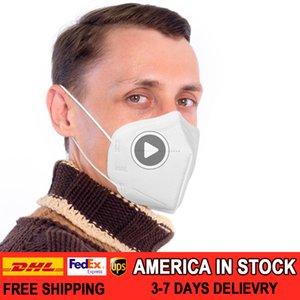30pcs 5-ply K95 Cleansing Máscara de filtro Fa Sield Earloop de Den plegable eficiente de protección ámbar