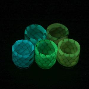 Luminous Snakeskin Snake Skin Epoxy Resin 810 Thread light Drip Tip Mouthpiece fit for TFV8 Big Baby Prince Tank Vape