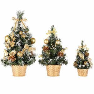Pine Trees Décorations de Noël un petit Mini arbre Placée au Festival de Noël de bureau Accueil Ornements 15cm-40cm Oawf
