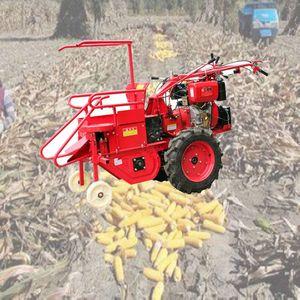 Küçük mısır sökme makinesi mini mısır satışı elle dizel mısır hasat için Çin üretici ile kombine hasat