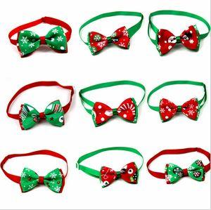 Últimas filhote de cachorro Pet flocos de neve da árvore de Natal do cão do gato gravata borboleta colar colar bowknot gravata grooming para pet decoração fornecedor Costume