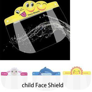 DHL 100pcs bambino del fumetto Visiera trasparente in PET protezione dagli spruzzi goccioline coperchio della testata per bambini da regalo DHA246