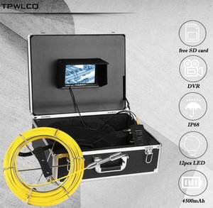 Free 8GB SD Card 23mm Pipe Pipeline Industrial Endoscope 7 inch Sewer Plumbing Drain Cleaner Inspection Camera 20 30 40 50M