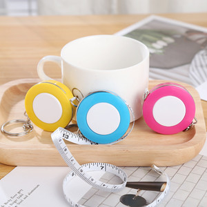 Portable Mini 1.5m 60In Tape Ruler With Keychain Cute Retractable Measure Tape For Soft Cloth Sewing Tailor Craft Pull Tool