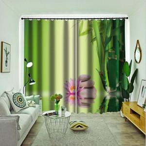 3D cortina de bambú cortinas de piedra para la sala dormitorio moderno cortinas opacas para los niños