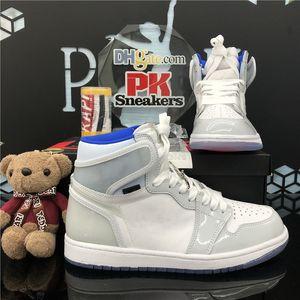 Новое прибытие Jumpman 1 1s High Obsidian UNC-белая игра Royal UNC Basketball Shoes Mens Разрушенные Backboard 3.0 Мужские спортивные кроссовки обувь