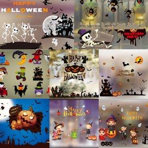 y7clf pie DrawingsStyle de Windows Pegatinas rojo de las palmeras de Halloween Decoración HorrorParty HCY pegatinas cm Wall