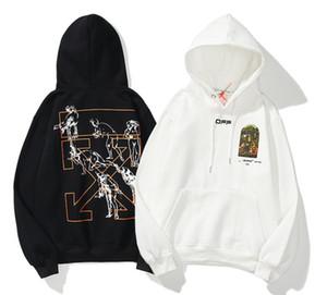 2020ss nueva caliente OFFWHITE sudaderas con capucha de impresión carta de la moda streetwear hombre y la mujer sudadera pulover 017
