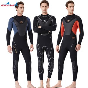 Hommes néoprène 3 mm thermique plongée Wetsuit haute élastique Surf Spearfishing One Piece Body Wetsuits pleine plongée sous-marine Jumpsuit