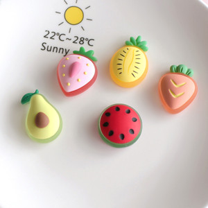 HOT SELLING STRAWBERRY PINEAPPLE WATERMELON FRUIT HAIR ROPE HAIRPIN PHONE CASE DIY RESIN ACCESSORIES