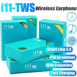 Touch Control i11 TWS Bluetooth 5.0 Stereo-Kopfhörer Wireless Mini-Kopfhörer Earbuds mit Kasten Lade