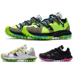 Mens Zoom Terra Kiger 5 x crampons blancs espadrille en peluche dessus ongles en plastique noir vert électrique athlète en femmes Spikes Progress Running Shoes
