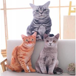 어린이 어린이 선물에 대한 Babiqu 50cm 시뮬레이션 봉제 고양이 베개 소프트 박제 된 동물 쿠션 소파 장식 만화 봉제 완구