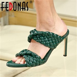 FEDONAS 2020 New Arrival Famale Sandals For Girls Fashion Peep Toe High Heels Pumps Wedding Party Prom Shoes Woman Heels Size 34 0924