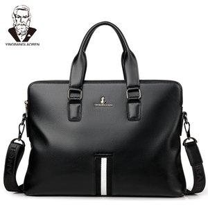 Men's Genuine Leather Business Briefcase Casual Shoulder Bag Messenger Bag Computer Laptop Handbag Travel
