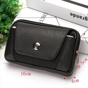 Men Fanny Pack Mobile Phone Bags Black Color Hasp Zipper Male Coin Purse Burse Good Quality Bag Waist Packs Casual Man Purse