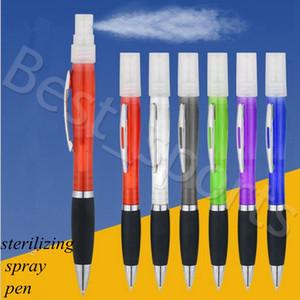 Mini Sprayer Disinfection Pen Metal Clip Empty Tube Refillable Perfume Alcohol Hand Sanitizer sterilizing spray pen YYA476 100pcs