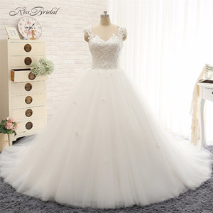 Princess Ball Gown Wedding Dresses Robe de Mariee Sexy Backless Lace Appliques Bridal Gown Vestido de Noiva 2017
