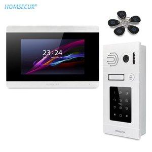 """HOMSECUR 7"""" contraseña de acceso al ras del sistema de intercomunicación video de la puerta Teléfono + montaje de cámara IP65 800TVLine para la seguridad casera BC071-S + S-BM715"""