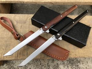 매직 펜 M390 나무 핸들 전술 자기 방어 접는 EDC 포켓 나이프 캠핑 사냥 칼 크리스마스 선물 a2939